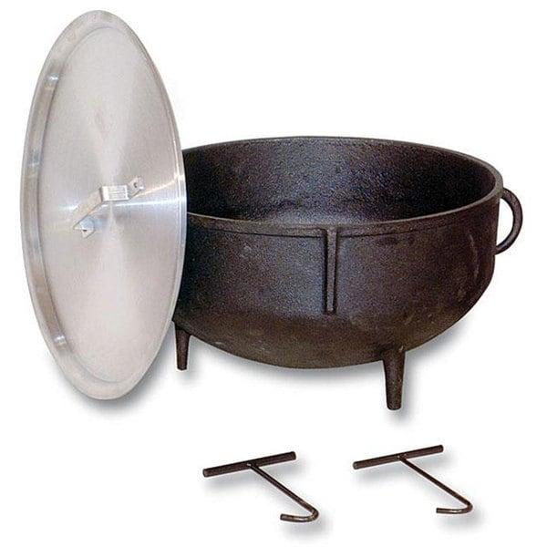 shop king kooker 10 gallon cast iron jambalaya pot free shipping today overstock 5836479. Black Bedroom Furniture Sets. Home Design Ideas