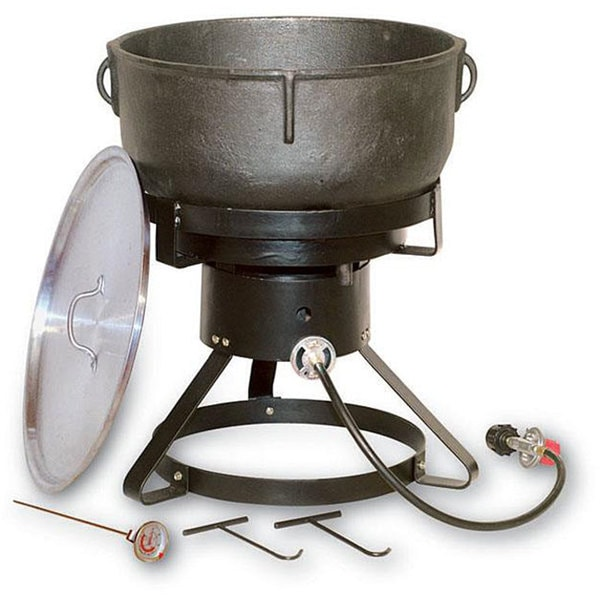 king kooker 10gallon jambalaya cast iron pot and outdoor cooker