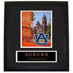 Auburn Tigers Wood Wall Hanging Framed Logo