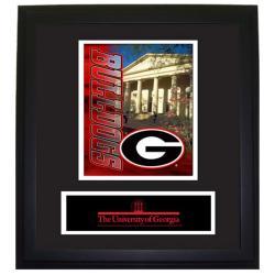 Georgia Bulldogs Wood Wall Hanging Framed Logo - Thumbnail 0
