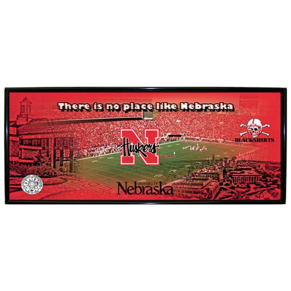 Nebraska Cornhuskers Mini Wall Hanging Panoramic Logo