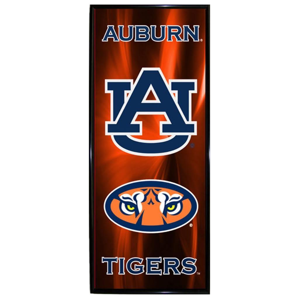 Auburn Tigers Vertical Mylar Wall Hanging Framed Logo