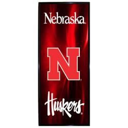 Nebraska Cornhuskers Vertical Mylar Wall Hanging Framed Logo - Thumbnail 0