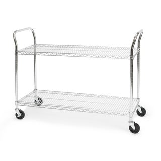 """OFM Core Collection X5 Series Heavy Duty 18"""" X 48"""" Mobile Utility Cart, in Silver (SHCART1848) - 18x48"""