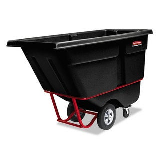 Rubbermaid Commercial Rotomolded Tilt Truck Rectangular Plastic 1/2 cu yard 850-pound Capacity Black