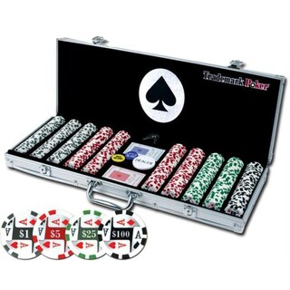 4 Aces 500 11.5G Poker Chip Set with Aluminum Case