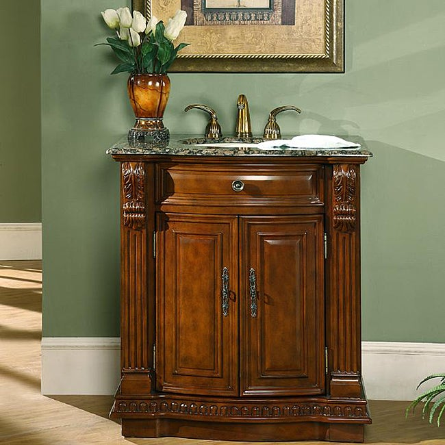 Bon Silkroad Exclusive 33 Inch Single Sink Cabinet Bathroom Vanity