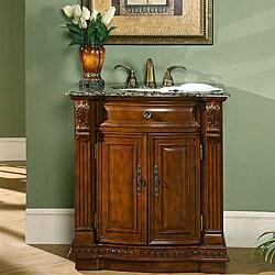 Silkroad Exclusive 33 Inch Single Sink Cabinet Bathroom Vanity