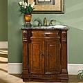 Link to Silkroad Exclusive 33-inch Single Sink Cabinet Bathroom Vanity Similar Items in Bathroom Furniture