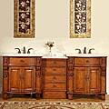 Silkroad Exclusive 84-inch Double Sink Cabinet Bathroom Vanity