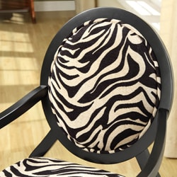 New Zebra Oval Back Chair
