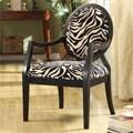 New Zebra Oval Back Chair