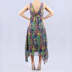 Madison Paige Chiffon Tea Length Dress - Thumbnail 1