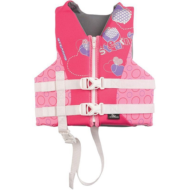 Coleman Children's Pink Hearts Hydroprene Life Jacket