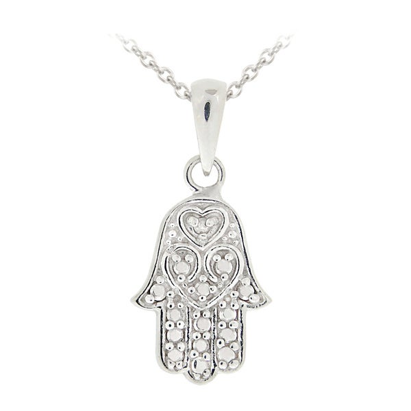 hamsa layered boutique necklaces en happiness silver necklace in hand
