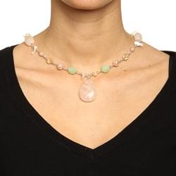 Alexa Starr Rose Quartz and Shell Necklace - Thumbnail 2
