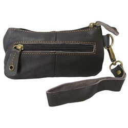 Amerileather 'Orka' Leather Wristlet Wallet - Thumbnail 1