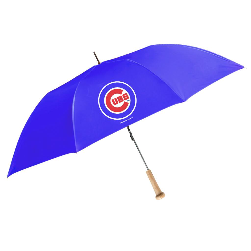 Coopersburg 48-in Chicago Cubs Ballpark Bat Umbrella - Thumbnail 0