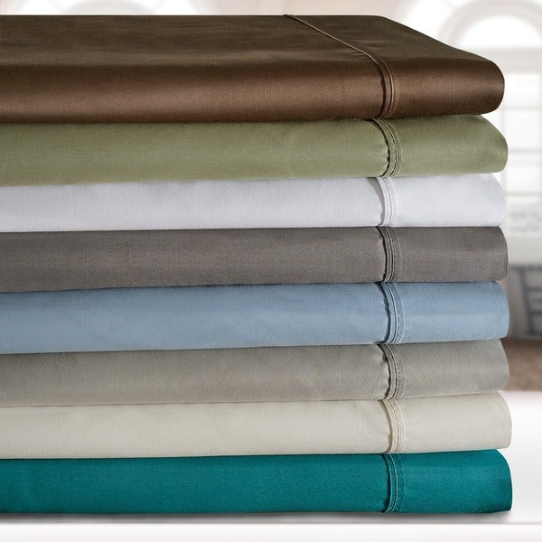 Superior 600 Thread Count Deep Pocket Olympic Queen Cotton Blend Sheet Set