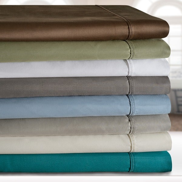 Superior 600 Thread Count Deep Pocket Split King Cotton Blend Sheet Set