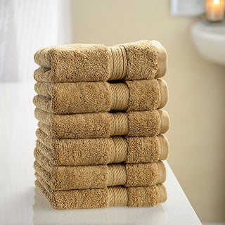 Superior Collection Luxurious 900 GSM Egyptian Washcloths (Set of 6)