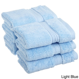 Superior Collection Luxurious 900 GSM 100-percent Premium Long-staple Combed Cotton Washcloths (Set of 6)