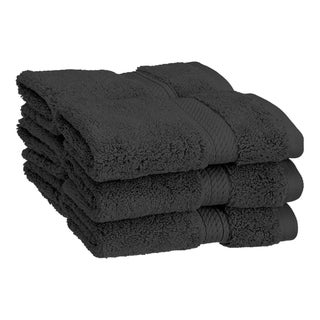 Superior Luxurious & Absorbent 900 GSM Combed Cotton Washcloth (Set of 6) (Option: Black)