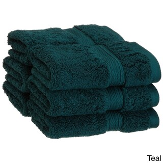 Superior Luxurious & Absorbent 900 GSM Combed Cotton Washcloth (Set of 6) (More options available)