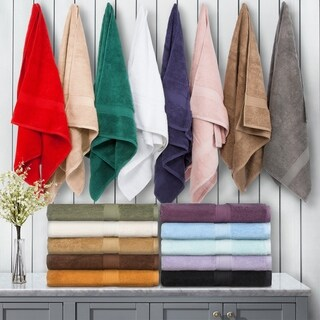 Superior Luxurious & Absorbent 900 GSM Combed Cotton Bath Towel (Set of 2) (More options available)
