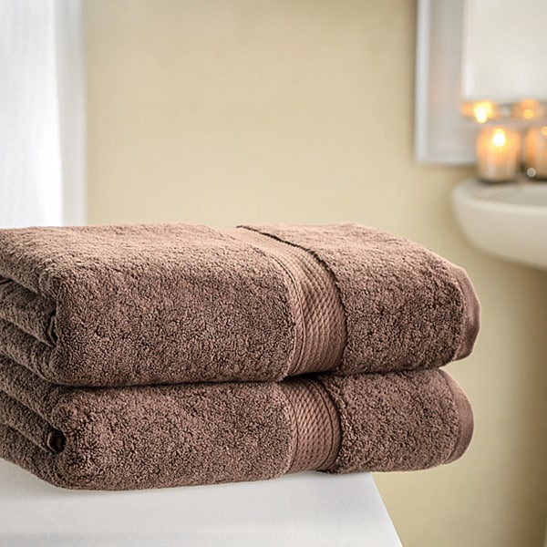 Superior Collection Luxurious 900 GSM 100-percent Premium Long-staple Combed Cotton Bath Towels (Set of 2)
