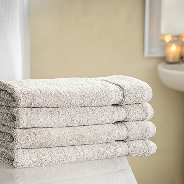 Superior Collection Luxurious 900 GSM Long-Staple Cotton Hand Towels (Set of 4)