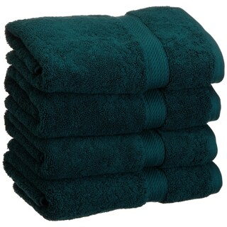 Superior Luxurious and Absorbent 900 GSM Combed Cotton Hand Towel (Set of 4) (More options available)