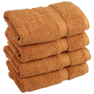 Superior Luxurious and Absorbent 900 GSM Combed Cotton Hand Towel (Set of 4) (Option: Rust)