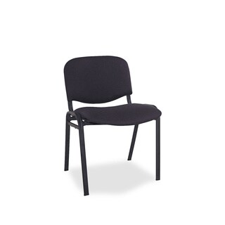Alera Continental Series Stacking Chairs with Black Fabric Upholstery (Pack of 4)