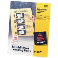Avery Clear Self-Adhesive Laminating Sheets (Pack of 10)