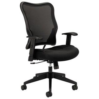 HON VL702 Series High-Back Swivel/Tilt Work Chair, Black Mesh