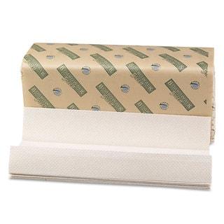 Boardwalk Green Folded Towels- C-Fold- Natural