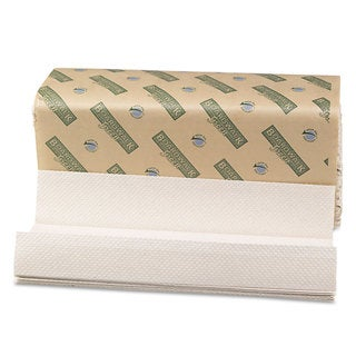 Boardwalk Green Folded Towels- C-Fold- Natural
