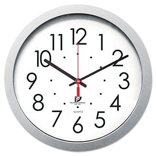 Chicago Lighthouse Quartz Flat Rim Clock 14-1/2 inches Silver