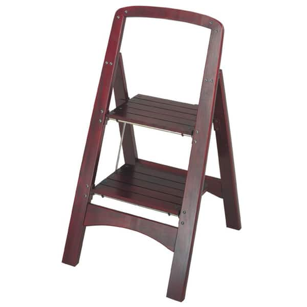 Strange Shop Cosco 2 Step Solid Wood Folding Step Stool On Sale Frankydiablos Diy Chair Ideas Frankydiabloscom