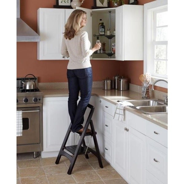 Cosco 2-step Solid Wood Folding Step Stool - Free Shipping Today - Overstock.com - 13556168  sc 1 st  Overstock.com & Cosco 2-step Solid Wood Folding Step Stool - Free Shipping Today ... islam-shia.org