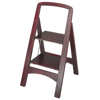 Cosco 2-step Solid Wood Folding Step Stool  sc 1 st  Overstock.com & Folding Wood Library Ladder Chair - Free Shipping Today ... islam-shia.org