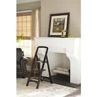 Cosco Brown Wood 3-step Folding Step Stool
