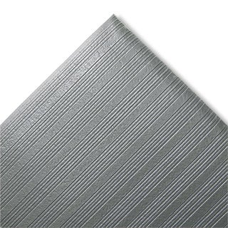 "Crown Ribbed Anti Fatigue Grey Vinyl Mat (27"" x 36"")"