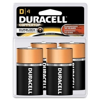 Duracell Coppertop D Alkaline Batteries (Pack of 4)