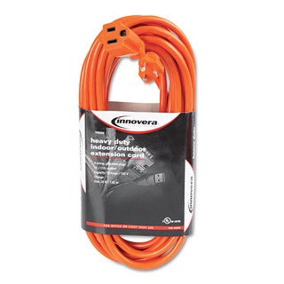 Innovera Indoor/Outdoor Extension Cord 25ft Orange