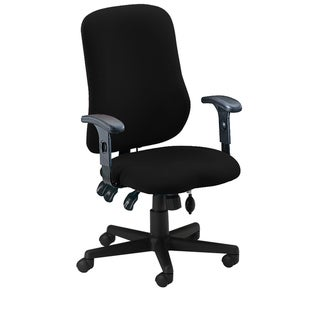 Mayline Comfort Series Black Contoured Support Chair