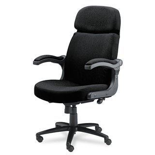 Mayline Big & Tall Series Executive Pivot-Arm Chair Acrylic/Poly Blend Fabric Black