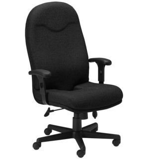 Mayline Comfort Series Black Executive High-back Chair
