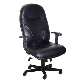 Mayline Comfort Series Black Leather Executive High-back Chair